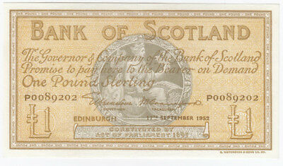 Scotland 'Elphinstone - Crawford' 17th September 1952 £1, flattened EF
