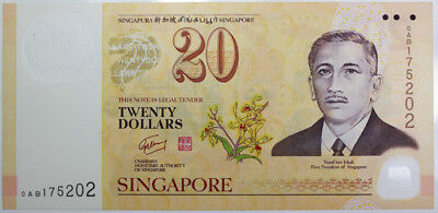 Singapore (2007) Polymer $20, Uncirculated
