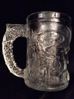 Batman Forever Collectible Glass Cup McDonalds ~ FREE SHIPPING
