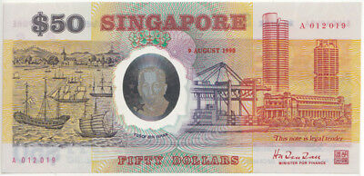 Singapore '9 August 1990' Polymer $50, Uncirculated
