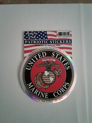 United States Marine Corps USMC Sticker Circle Emblem Decal 3.25""