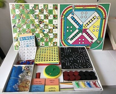 VINTAGE Board Game The Enfield COMPENDIUM Of Games SPEAR'S GAME England 1980's