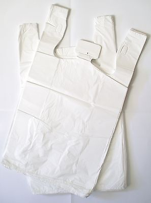500 HD Plastic Singlet Shopping Carry Grocery Checkout bags-size 550x330+170mm