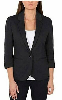 Nicole Miller Original Women's Knit Blazer 3/4 Sleeve Free Shipping Brand New