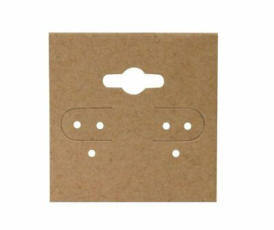 "Earring Hanging Display Cards Kraft 2 x 2"" Lot of 100"