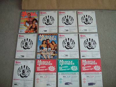 12 MUSCLE & FITNESS 1995 ORIGINAL MAILERS bodybuilding WEIDER crossfit homegym
