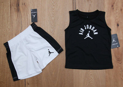 Air Jordan Baby Boy 2 Piece Tank & Shorts Set ~ Black & White ~ Jumpman ~