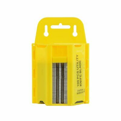 100pc Utility Blades w/ Dispenser   Box Cutter Exacto Replacement Knife Set