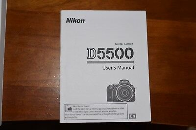 Nikon D5500 Genuine Instruction Owners Manual NEW