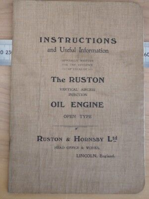 OLD RUSTON OIL ENGINE INSTRUCTIONS BOOK, (i544)