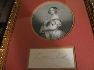 Queen Victoria of the United Kingdom Hand Signed Display
