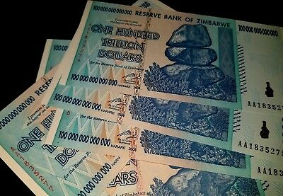 Zimbabwe 100 Trillion Dollars Aa 2008 Series P91 Unc Hundred Trillion Zimbabwe