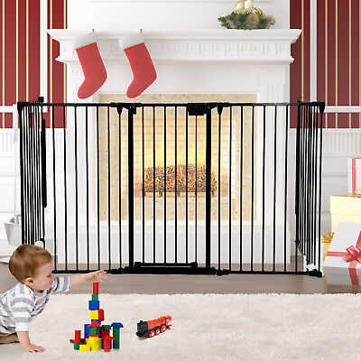 New Fireplace Fence Baby Safety Gate Metal Fire Gate Hearth BBQ Kids Pet Dog Cat