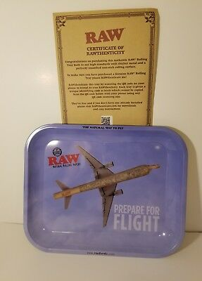 """RAW Prepare for Flight Metal Rolling Tray (Large 13.5""""x11"""")"""