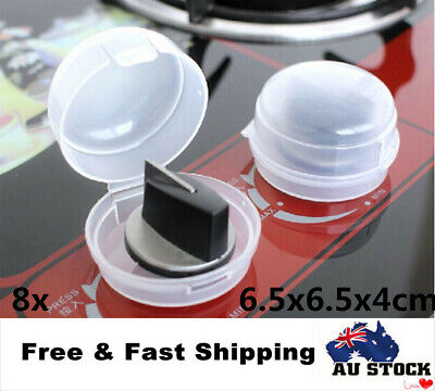 8 x Lock Guard Kids Child Safety Stove Oven Control Switch Knob Covers