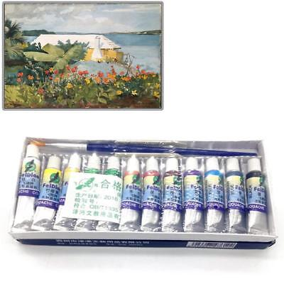 12 Color Acrylic Paint Set 5 ml Tubes Artist Draw Painting Pigment Painting Bа