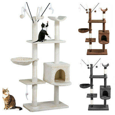 149CM Cat Scratching Post Tree Gym House Condo Furniture Scratcher Pole