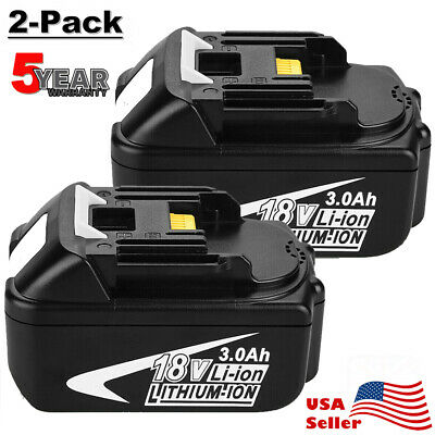 2x 18V 3.0Ah FOR MAKITA BL1830 BL1815 LXT400 Lithium-Ion Battery BL1845 upgrade
