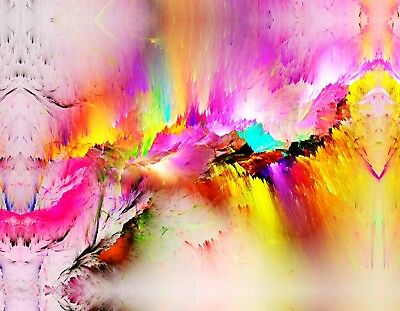 New Modern Abstract Colourful painting Canvas Print wall art home decor