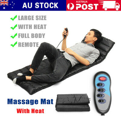 9 Motor Massage Mat Mattress Heated Massage Full Body Massager Cushion Sofa Bed