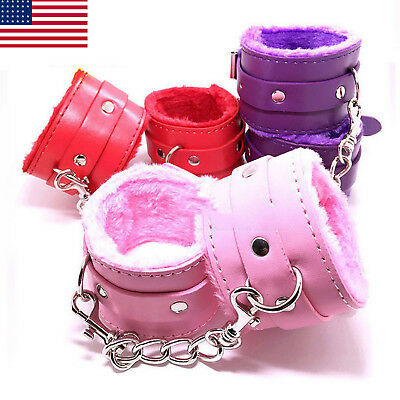 Handcuffs Up Furry Fuzzy Sexy Slave Hand Ring Ankle Cuffs Restraint Cosplay Toys