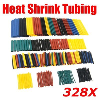 328X Heat Shrink Car Electrical Wire Cable Tubing Tube Sleeving Wrap Assortment