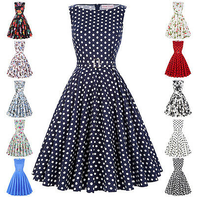 1940s 50s Vintage Floral Full Circle Dress Party Prom Cocktail Evening Dress New