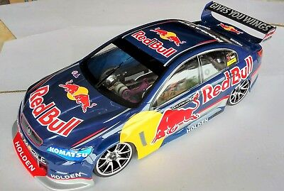 1:10 RC Clear Lexan Body Holden Commodore Red Bull 200mm Nitro or Electric