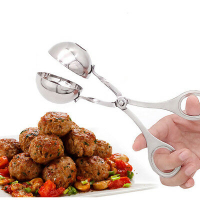 New Stainless Steel Tongs Meat Baller Meat Balls Maker Cookie Dough Meatball AU