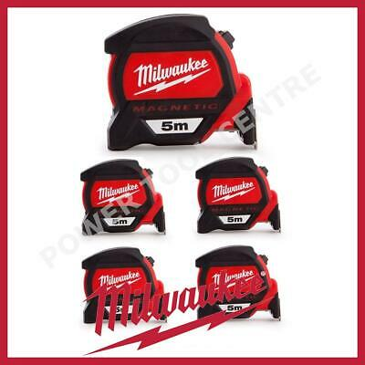 5x Milwaukee 4932459373 5m Magnetic Tape Measure with Finger Stop HP5MG/27