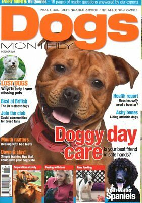 Dogs Monthly Magazine October 2014 IRISH WATER SPANIELS SEPERATION ANXIETY TEETH