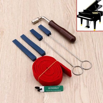 6Pcs Professional Piano Tuning Hammer Wrench Lever Tuner Star Head + Mute Tools