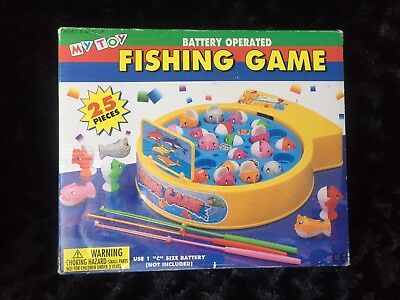 Vintage Fishing Board Game Battery Operated My Toy, Australia Complete 25 Pcs
