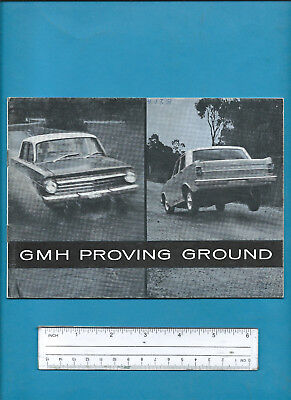 EH HOLDEN GMH PROVING GROUND 16 PAGE BROCHURE July 1964