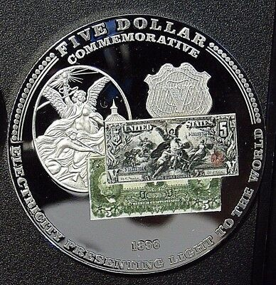 2010 PROOF $ 5 PRESENTING LIGHT 1896 UNITED STATES Certified American Mint