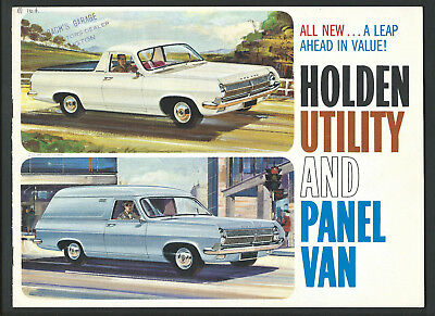 HD HOLDEN UTILITY and PANEL VAN 8 PAGE BROCHURE May 1965