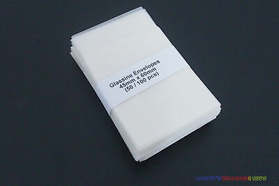 50 New Glassine Envelopes 45mm x 60mm - Stamp Collection Philately Supplies