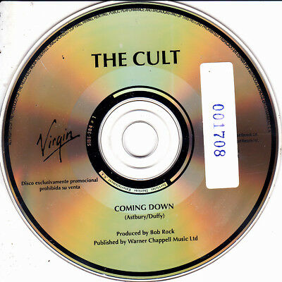 The Cult - Coming Down Cd Single No Cover Promo Spain 1 Track 1994 Excellent