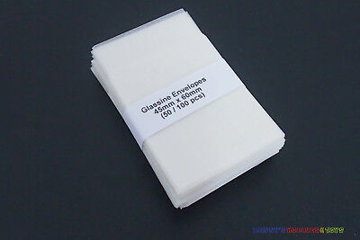 500 New Glassine Envelopes 45mm x 60mm - Stamp Collection Philately Supplies