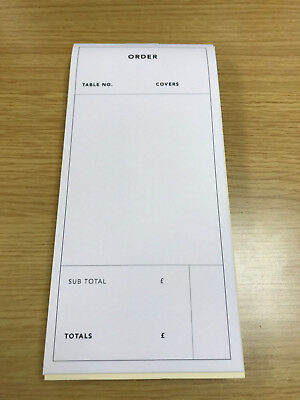 3 Part , Restaurant Cafe Waiter Food Order Table Covers Pads X 10 Pads