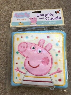 Peppa Pig Snuggle And Cuddle Cloth Book For Baby, New £9.99