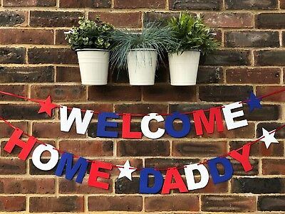 Personalised Welcome Home Banner Party Decorations Bon Voyage Celebrations Back