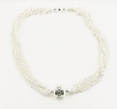 eb1dc6126 NEW Authentic PANDORA Silver Moments One-Clip Multi-Chain Bracelet 591701