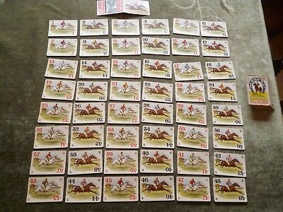 Full Set Derby Day Race Horse Racing Colours Parker Card Game Cardgame c1910s