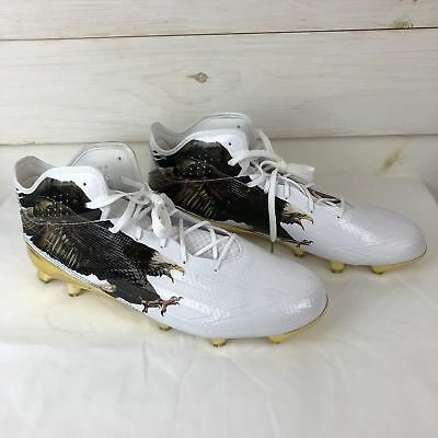 new york fee9b cb6fa Adidas Adizero 5-Star 5.0 Uncaged Eagle Mid Football Cleats Gold Size 16  B49600