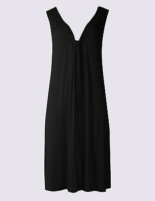M & S Collection V-Neck Black, Navy, Red Or Turquoise Beach Dress