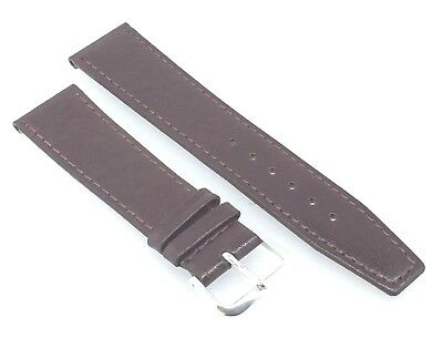 Brown Quality Genuine Leather Slim Watch Strap Band 20mm 22mm