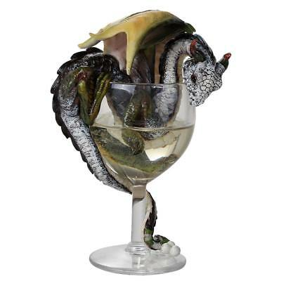 White Wine Goblet Dragon Collectible by Stanley Morrison