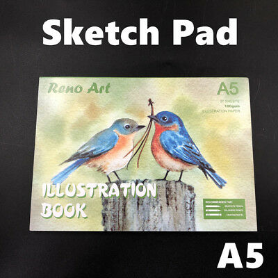 100gsm A5 Sketch Pad Atrist Painting Drawing Art Paper illustration Book Craft