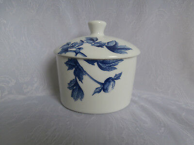 Royal Worcester Blue Peony Fine Porcelain Covered Sugar Bowl Brand New Gift Idea